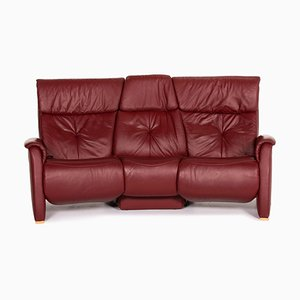 Rd Leather Trapeze 3-Seat Relaxation Function Sofa from Himolla
