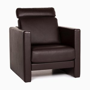 Dark Brown Leather Ego Armchair from Rolf Benz