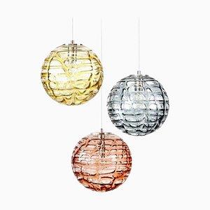 Murano Glass Pendant Lamps from Doria Leuchten, 1960s, Set of 3