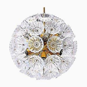 Florale Stubburst Sputnik Kronleuchter aus Glas, Deutschland, 1960er, 2er Set