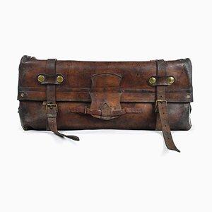 Englischer Koffer aus Leder mit Innentasche, 1880er