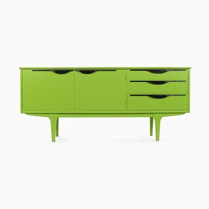 Green Lacquered Wood Console Table, 1960s