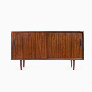 Wooden Console Table with 2 Sliding Doors, 1960s