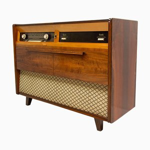 Mid-Century Czechoslovak Record Player and Radio from Tesla, 1950s