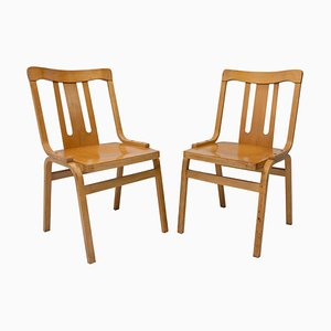 Czechoslovak Bentwood Dining Chairs from Ton, 1970s, Set of 2