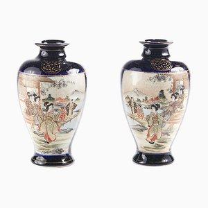 Antique Satsuma Vases, Set of 2