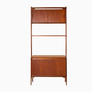 Mid-Century Danish Teak Room Divider Shelf by Erik Buch, 1950s