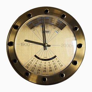 Orologio da parete vintage con funzione di calendario di Atlanta, anni '60