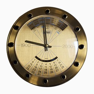 Vintage Wall Clock with Calendar Function from Atlanta, 1960s
