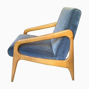 Mid-Century French Lounge Chairs from Stella, 1950s, Set of 2