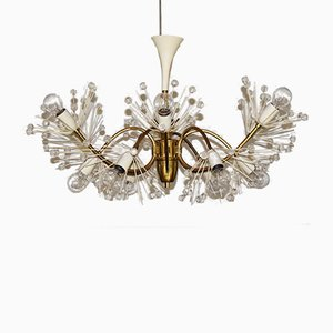 Large 12-Arm Pyra Snowflake Chandelier by Emil Stejnar for Rupert Nikoll, 1950s
