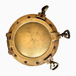 Vintage Brass and Glass Porthole from Vitrex, 1940s