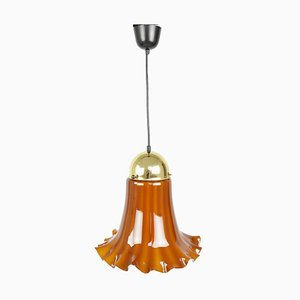 Vintage Glass Pendant Lamp from Peill & Putzler, 1970s