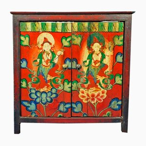 Vintage Painted Wooden Cabinet, 1960s