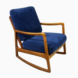 Model 120 Rocking Chair by Ole Wanscher for France & Søn / France & Daverkosen, 1960s