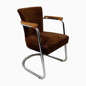 Deutscher Sessel mit Rohrgestell, 1950er
