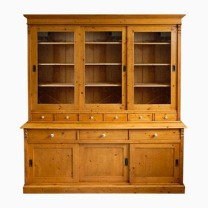 Antique Shop Display Cabinet with Sliding Doors, 1900s