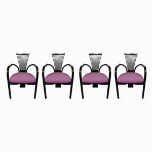 Norwegian Totem Dining Chairs by Torstein Nilsen for Westnofa, 1980s, Set of 4