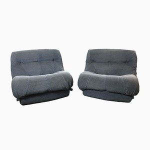 Model Nuvolone Lounge Chairs by Rino Maturi for Mimo Leone, 1970s, Set of 2