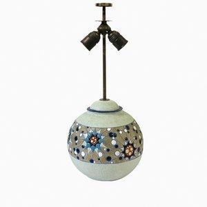 Lámpara Art Déco de cerámica de Amphora, años 30