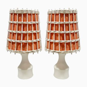 Kleine Tischlampen, 1960er, 2er Set