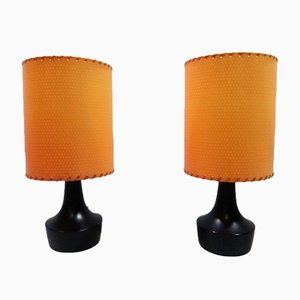 Small German Table Lamps from Biko Leuchten, 1960s, Set of 2