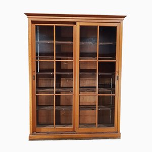 Antique Pitch Pine University School Lab Cabinet, 1900s