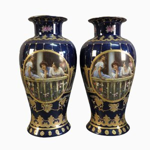 Art Nouveau Vases from Royal Limoges, Set of 2