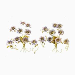 Chandeliers Bouquet de Fleurs de Barovier & Toso, 1980s, Set de 2