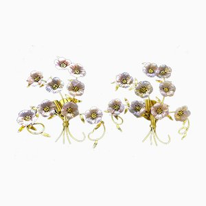 Flower Bouquet Sconces from Barovier & Toso, 1980s, Set of 2