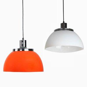 Lampe à Suspension 2240 Faro Vintage par Luigi Massoni de Guzzini & Meblo, 1960s, Set de 2