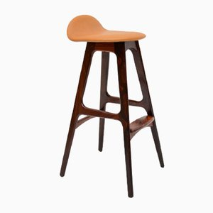Vintage Danish Rosewood Bar Stool by Erik Buch, 1960s