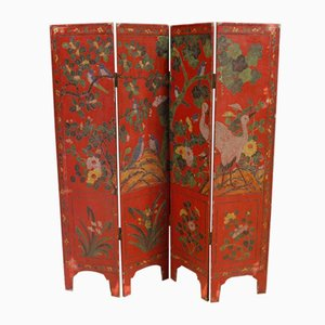 French Lacquered Chinoiserie Screen, 1960s