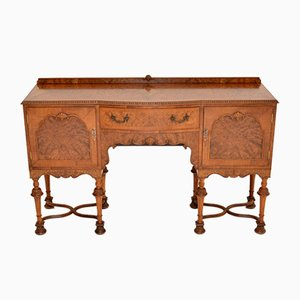Antique William & Mary Style Burl Walnut Sideboard, 1930s