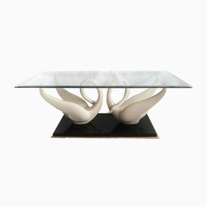Mid-Century Swan Coffee Table from Maison Jansen