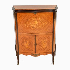 Antique French Inlaid Marquetry Bar Cabinet, 1930s