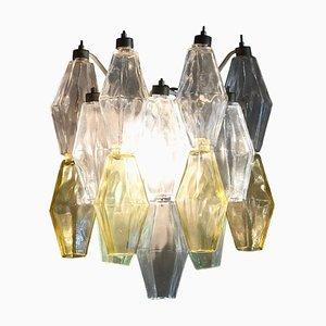 Apliques Poliedri italianos de cristal de Murano de Carlo Scarpa para Venini, años 50. Juego de 2