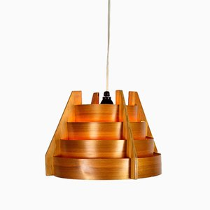 Swedish Wooden Pendant Lamp by Hans Agne Jakobsson for AB Markaryd, 1960s