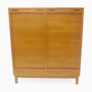 Swedish Teak Archive Cupboard, 1960s