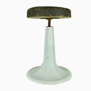 Enameled Metal Dental Stool, 1940s