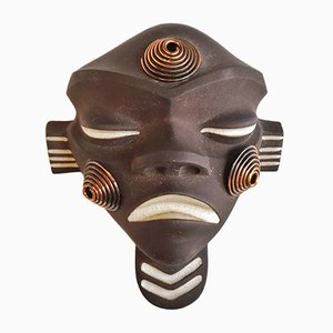 Stylized African Mask by Jaap Ravelli for Potterie Ravelli, 1950s