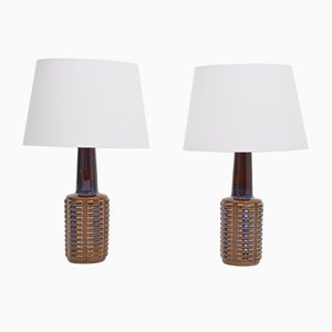 Mid-Century Ceramic Table Lamps by Einar Johansen for Soholm Stentoj, 1960s, Set of 2