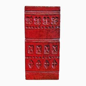 Vaso Red Block Block rosso di Aldo Londi per Bitossi, anni '60