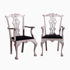 Vintage Richly Carved Chairs, Set of 8