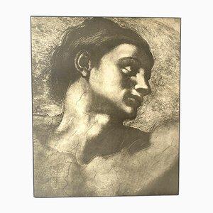 Vintage Michelangelo Athena Block Board Print, 1970s