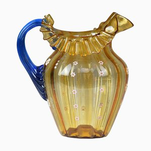 Vintage Italian Liberty Style Murano Pitcher