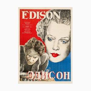 Edison the Man Poster by A. Vasiliev, 1944