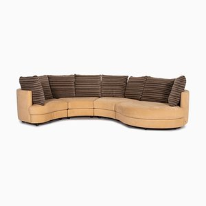 Beige Fabric Patterned Corner Sofa from Rolf Benz