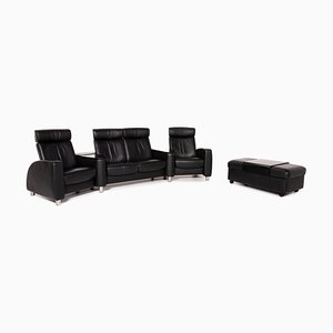Black Leather Arion Corner Sofa & Armchair from Stressless, Set of 2