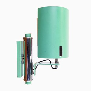 Vintage Italian Green Adjustable Wall Light, 1970s